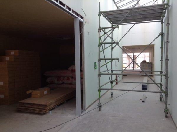ステンレス壁見切り工事後の画像