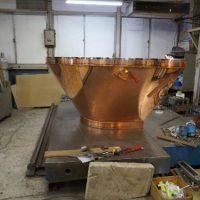 特殊な銅製フード高級鉄板焼き店で使用