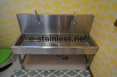 幼児用手洗いシンク、ステンレスシンク特注